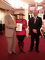 Posing with RCMP Canadian Citizenship Certificate