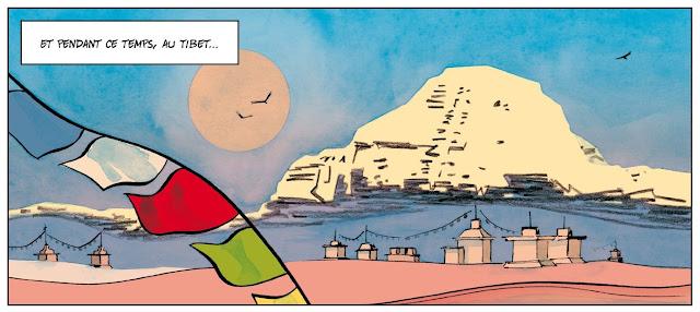 Tine & Junior tome 2 - les géants de pierre éditions Frimousse case extraite 2