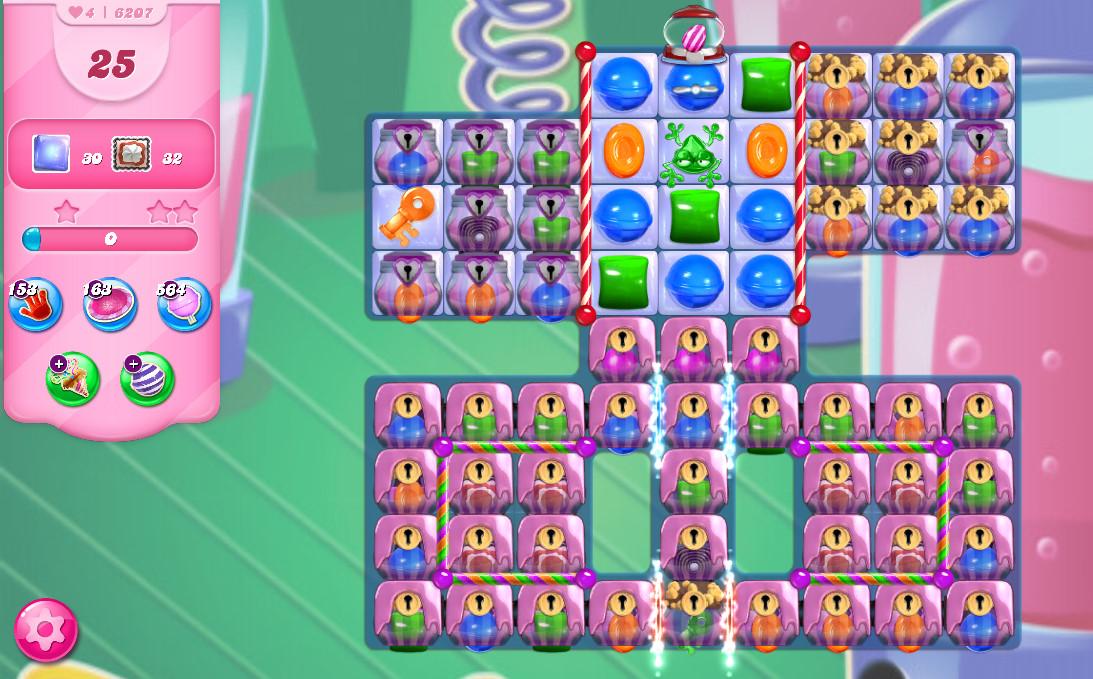 Candy Crush Saga level 6207