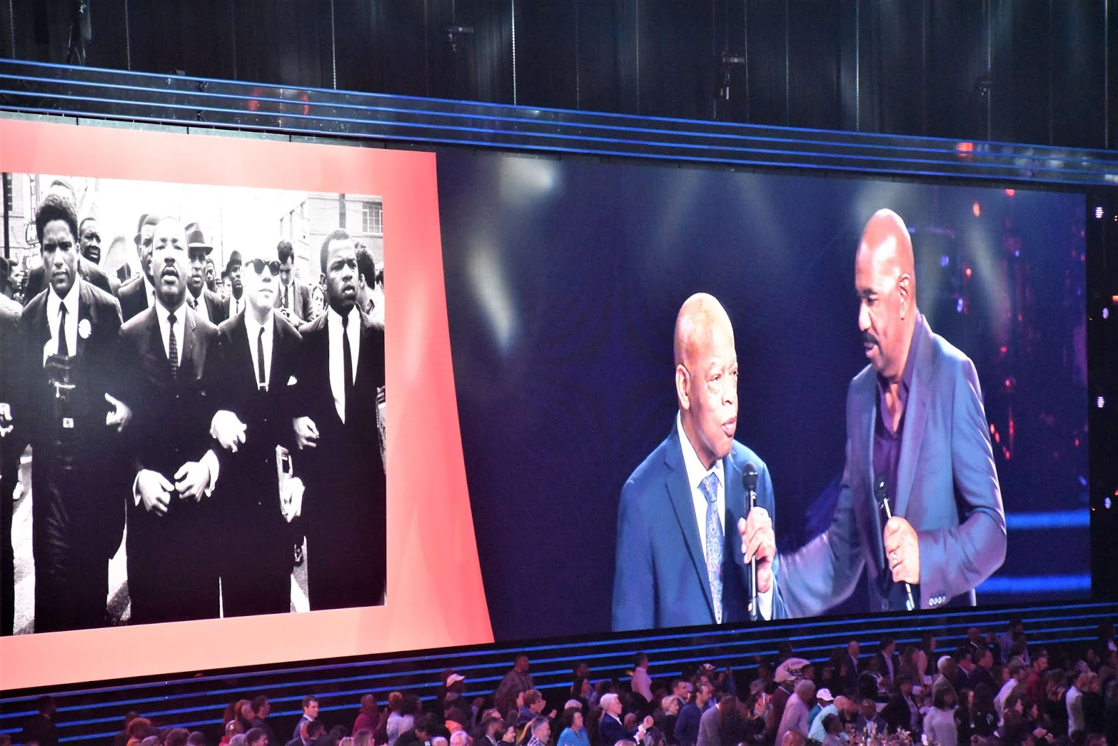 Beloved Benefit at Mercedes Benz Stadium with John Lewis and Steve Harvey