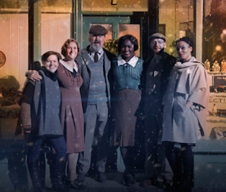 The Sweet Makers at Christmas - cast photo