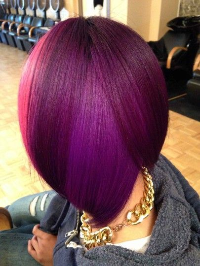 Rock Your Bob With Deep Purple Colors The Haircut Web