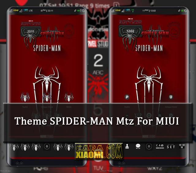 MIUI Theme SPIDER-MAN Light Mtz Update Icon and ZW Clock Spidey