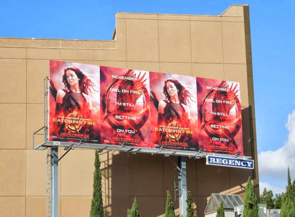 Hunger Games 2 Catching Fire billboard