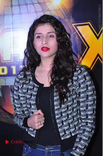 Actress Mannara Chopra Stills in Jeans at Sparx 2017 Curtain Raiser Event  0053.JPG
