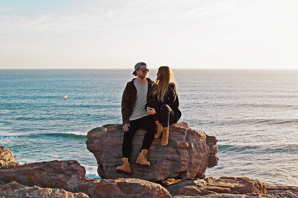 Wilyabrup Sea Cliffs, couple goals, Timberland Icons