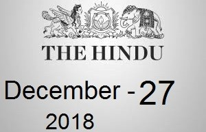 The Hindu Newspaper Today 27 December 2018 Download PDF