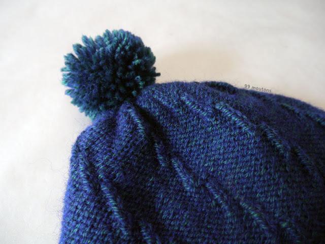 pompon bonnet laine Baronval Bergère de France