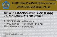 npwp cv kembangdjati furniture semarang