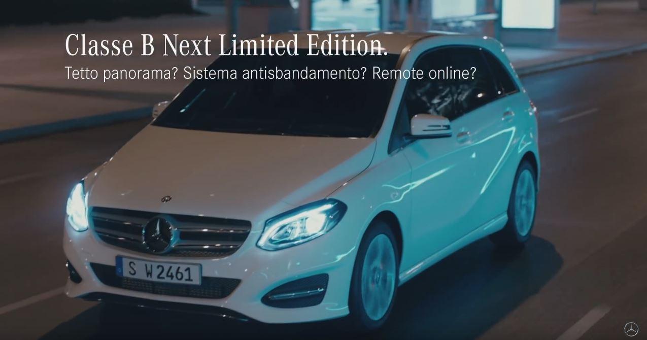 Canzone Mercedes Classe B Next Limited Edition Pubblicità