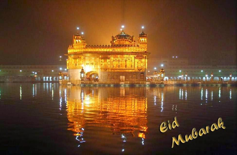 Amritsar-golden-temple-eid-mubarak