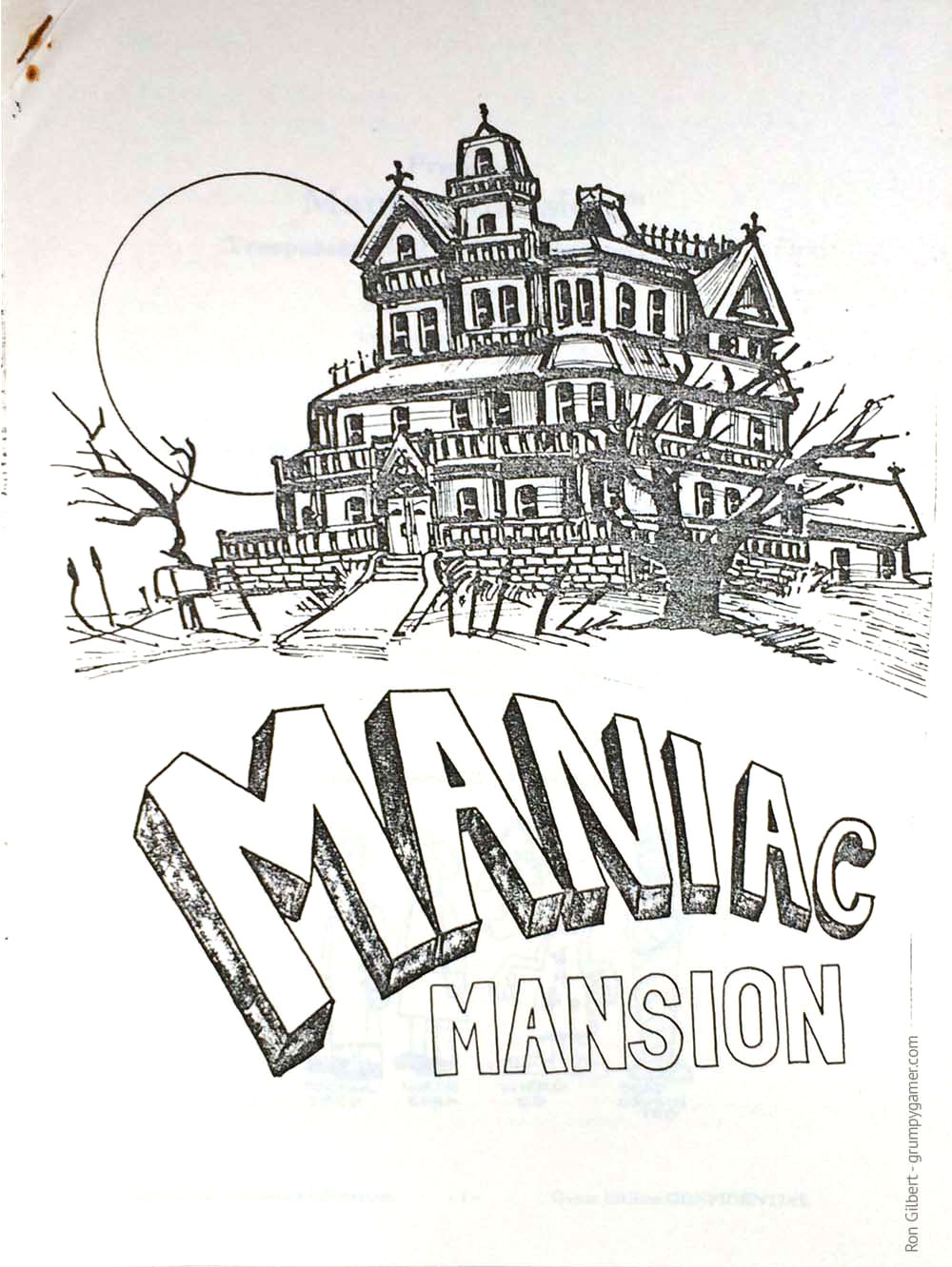 Documento técnico Maniac Mansion 1