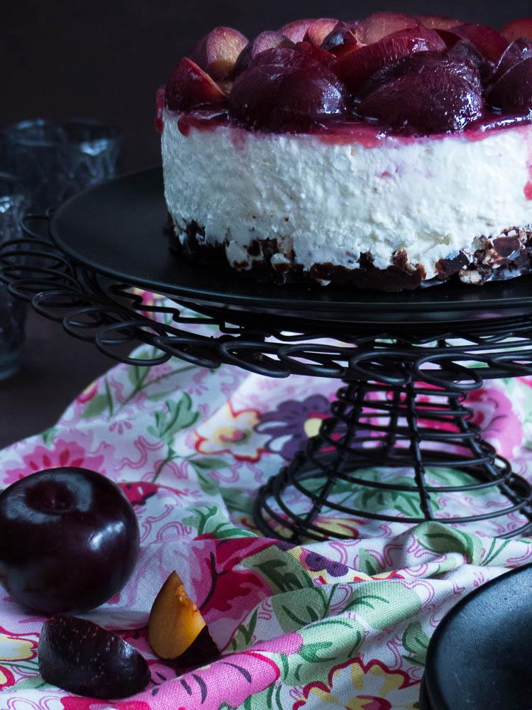 no bake cottage cheese cheesecake mit pflaumen meine ka¼chenschlacht