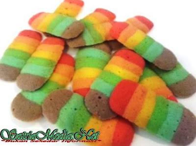 Resep Cara Membuat Kue Lidah Kucing Rainbow Spesial