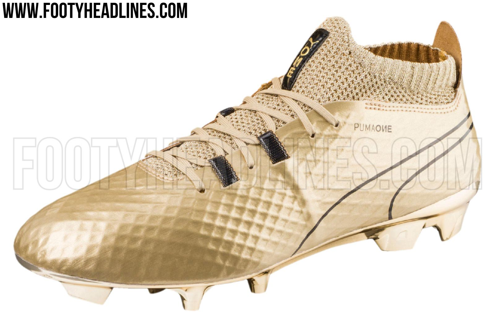 gold puma football boots