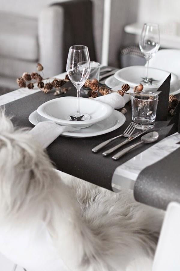 Montar la mesa para navidad