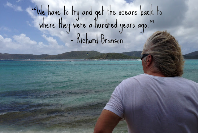 We have to try and get the oceans back to where they were a hundred years ago. - Richard Branson