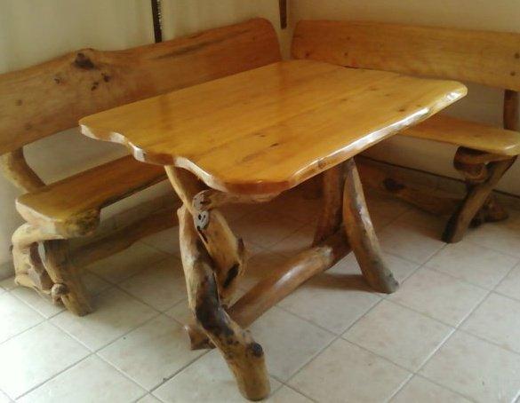 Arte rustika muebles rusticos artesanales juegos de comedor for Muebles artesanales de madera