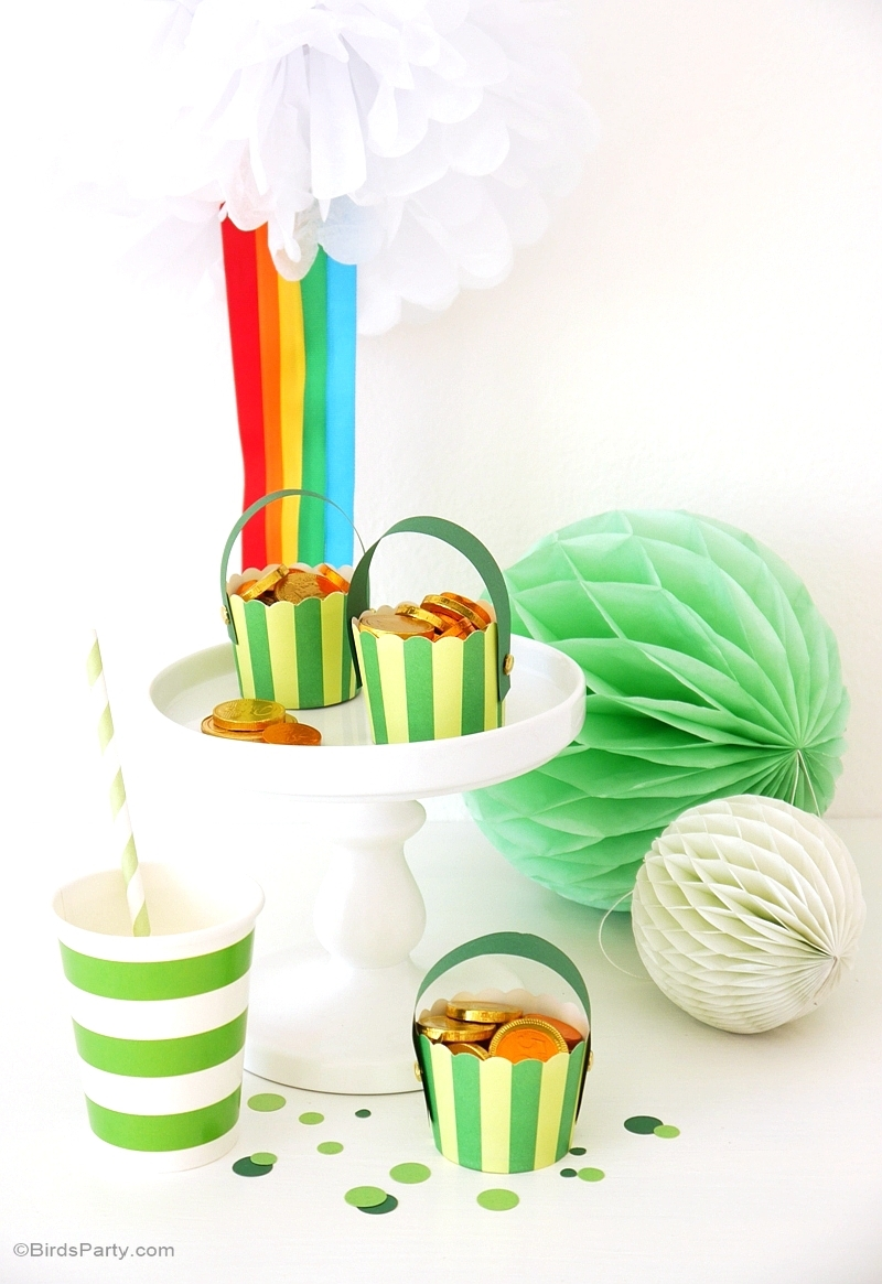 DIY Pot of Gold & Pompon Arc en Ciel - BirdsParty.fr