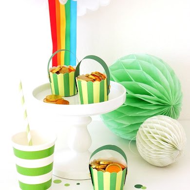 St Patrick's Day | DIY Pot of Gold & Rainbow Pompom