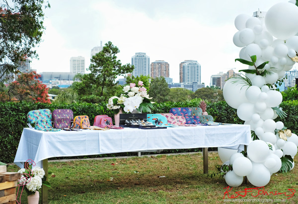 Presentation table for Havana Days pool party Launch Event - Photographed by Kent Johnson for Street Fashion Sydney