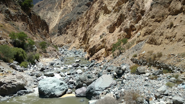 riverbed in the Colca Canyon