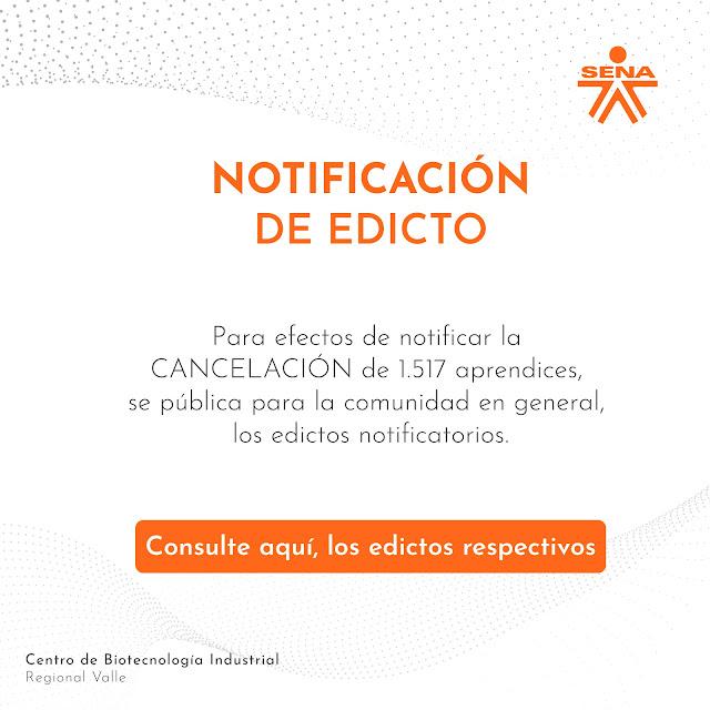 Edictos de Cancelación