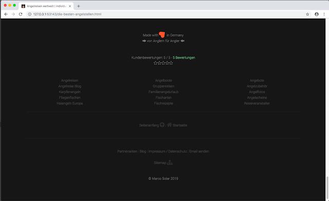 Webseiten Footer Design