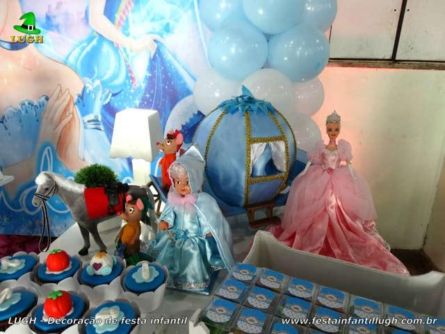 Decoração de aniversário Cinderela - Mesa provençal