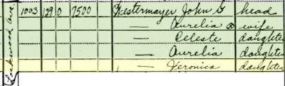 1940 US census family of John G. Westermayer at 1003 Lockwood Avenue