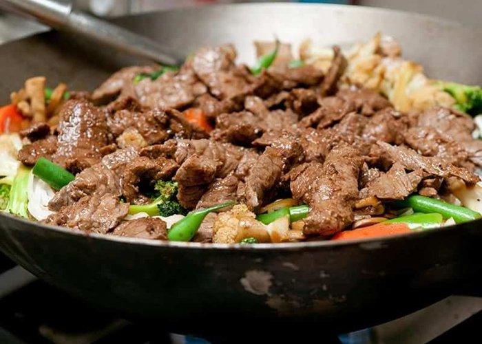 carne estilo oriental
