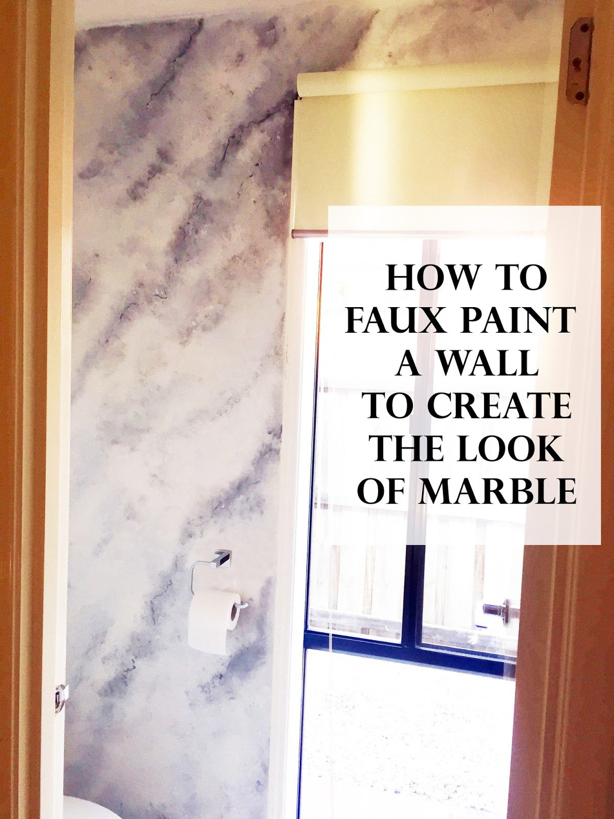 Prativya Powder Room Faux Marble Wall Diy