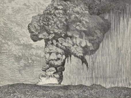 Dahsyatnya letusan gunung krakatau