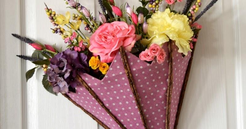 Mix Spring Decoration For Front Door Plus Flower Arranging Tips
