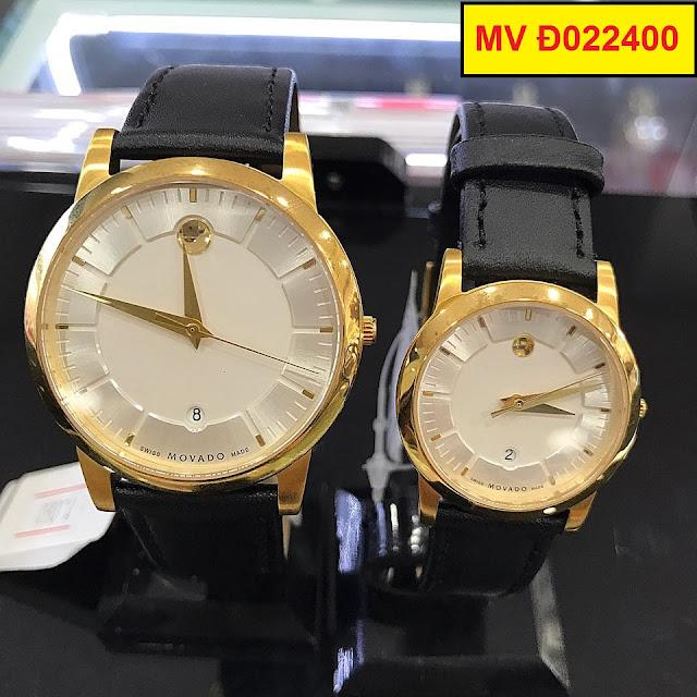 Đồng hồ cặp đôi dây da MV Đ022400