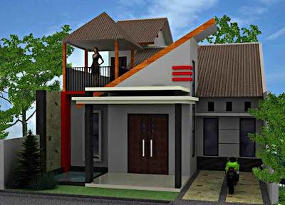Model Desain Rumah Minimalis 2 Lantai Sederhana Mungil type 21