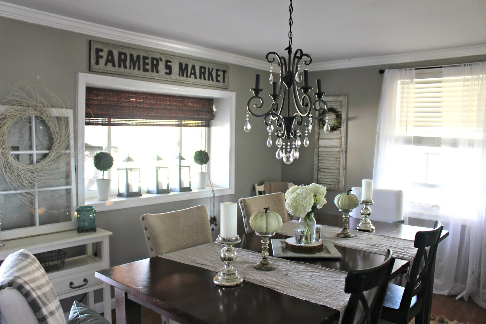 Fall Dining Room And A New Sign!  The Glam Farmhouse