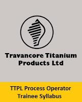 TTPL Process Operator Trainee Syllabus
