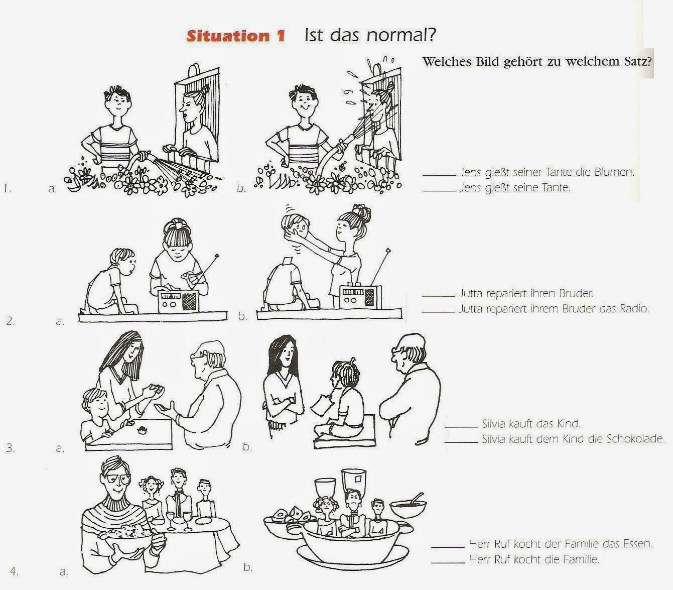 The German Sektor Dative Case Using Visuals