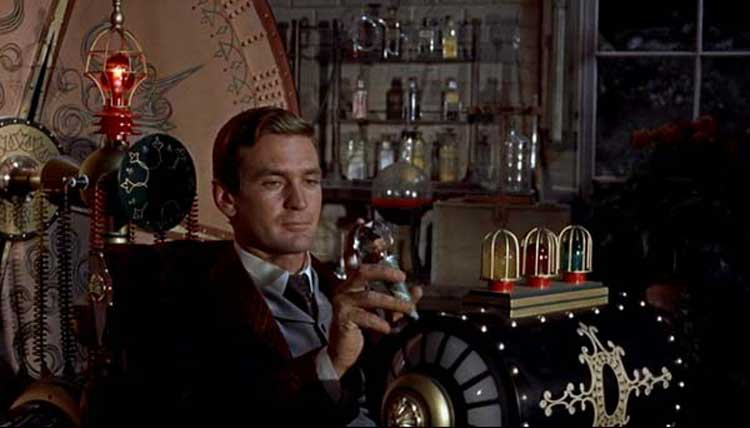 Rod Taylor stars as H. George Wells in The Time Machine.