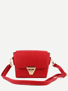Red Faux-Leather Bag