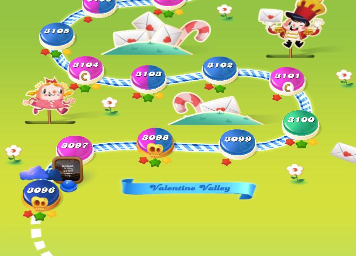 Candy Crush Saga level 3096-3110