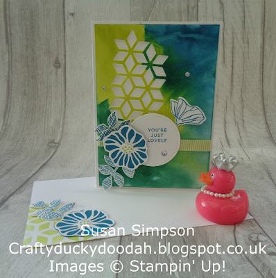 Craftyduckydoodah!, Stampin' Up! UK Independent  Demonstrator Susan Simpson, SBTD Blog Hop, Oh So Eclectic Bundle, Smoosh watercolour technique, Supplies available 24/7 from my online store,