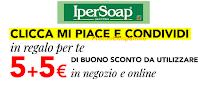 Logo IperSoap: con un like scarichi gratis 2 buoni sconto da 5€