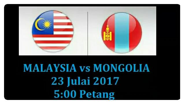 Live Streaming Malaysia vs Mongolia 23 Julai 2017 U23 AFC 2018