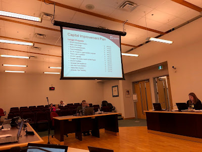 A slide of the larger items in Langley City's 2019 proposed capital budget