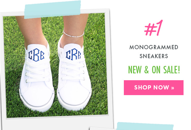 monogrammed sneakers from marleylilly.com