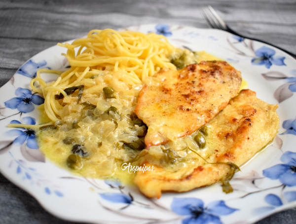 Pollo Piccata (Chicken Piccata). Vídeo Receta