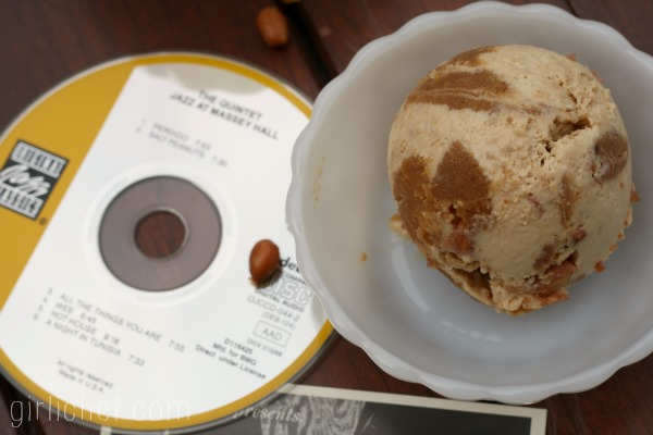 Salted Peanut Swirl Peanut Butter Ice Cream inspired by Salt Peanuts