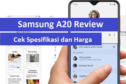 Cari tahu spesifikasi dan Harga Samsung A20 Disini